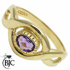BJC® 9ct Yellow gold Amethyst Oval Twist Solitaire Celtic engagement ring R265