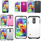 For Samsung Galaxy S5 Astronoot Hybrid Slim Hard Soft Case Skin Cover Shell+Film