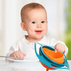 2PC Spill-Proof Bowl Dishes Toy Children Kid Baby Feeding Toddler Bow 360 Rotate