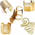 Gold Alloy Ladies Funky Cuff Bangle Designer Fashion Statement Costume Jewellery