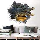 3D Big Crocodile 3307 Wall Murals Wall Stickers Decal Breakthrough WALLPAPER AU