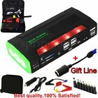 68800mAh 4USB Portable Car Jump Starter Power Bank Rechargable Battery 12V Torch