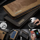 For iPhone X /10 Shockproof Flip Cards Canvas Hybrid Wallet Leather Case Cover