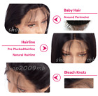 Pre Plucked Brazilian Women Wigs Front Lace Straight with Baby Hair 130% Density