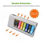 8 Bay Universal Rechargeable battery charger AA AA Ni-Mh Ni-Cd batteries Charger