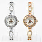 Women's Round Bowknot Rhinestone Crystal Diamante Bracelet Bangle Wrist Watch