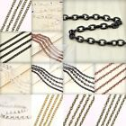 4M 13.12feet Unfinished Chains Necklaces Curb Chain 0.8x3x4mm 4 COLOR BB