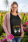 Let Me Out Maternity Halloween T-Shirt Top Pregnant Top Fancy Dress Costume L99