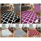 Modern Geometric Trellis Moroccan Thin Carpet Contemporary Soft Area Rug Soft