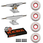 Independent Trucks Ricta SKATEBOARD 86a Clouds Wheels PACKAGE Bones Reds Bearing