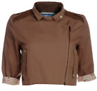 SALE! NEW 'CRUISE' SUPREMEBEING WOMEN'S RETRO MOD CROPPED JACKET IN BROWN K28