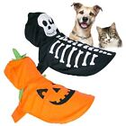 Pet Halloween Costume Dog Cat Spooky Fancy Dress Gift Party Outfit One Size Hood
