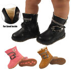 GIRLS FUR LINED DIAMANTE BUCKLE KIDS INFANTS MID CALF WINTER WARM BOOTS SHOES