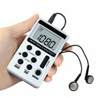 Portable Radio FM/AM Digital Portable Mini Receiver With Rechargeable Battery