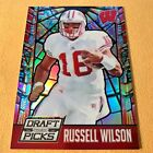 2015 Panini Prizm Draft Picks RUSSELL WILSO Stained Glass WISCONSIN SEAHAWKS 45