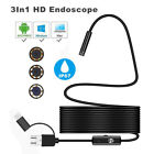 3 IN 1 Android USB Type-C Endoscope Inspection 7/8mm Camera 6 LED HD Waterproof