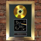 GOLD DISC PINK FLOYD Dark Side of The Moon Signed Autograph Mounted Repro A4 #96