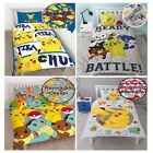 POKEMON DUVET COVER SETS KIDS BEDDING REVERSIBLE SINGLE & DOUBLE OFFICIAL