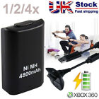 3600mAh Battery Pack + Charge Cable for xBox 360 Control Pad Black Free Postage