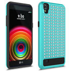 Dual Layer Bling Crystal Diamond Case Cover for LG X Style Tribute HD K200