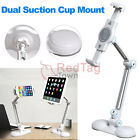 Desktop Wall Dual Suction Cup Stand Holder Mount for 4-10inch Cellphone Tablet