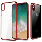 Shockproof Frame Bumper Clear TPU Back Case Cover for Apple iPhone X / 10 2017