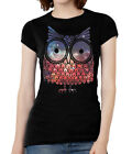 Womens Short-Sleeve Galaxy Owl T-Shirt