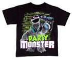 Sesame Street Cookie Monster Party Monster Black Youth T-Shirt