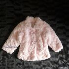 BABY GIRLS PINK ROSE MOCK FUR JACKET COAT-12 & 24 MONTHS-CUTE BOWS NEW
