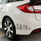 Funny Family Decal Sticker White /Black Stick Car Truck Window Auto Stickers