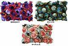 """BLUE ,BRIGHT OR PASTEL MULTI  3D FLORAL PILLOW COVER,  14"""" X 21"""","""