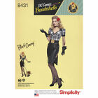 Simplicity Sewing Pattern #8431 DC Comics Bombshells Black Canary Costume Retro
