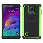 NEW LOT Hybrid Rubber Hard Case for Android Phone Samsung Galaxy Note 4 100+SOLD