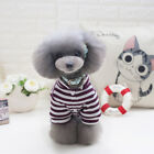Puppy Jumpsuit Teddy Pantsuit Dog Stripes Clothes Cotton Machine Washable
