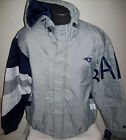 LOS ANGELES RAMS Starter KNOCKOUT Hooded Winter Jacket S M XL 2X GRAY BLUE