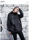 Oversize Hexagram loose hooded punk 10997 long shirt top