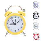 Mini Round Metal Alarm Clock Desk Stand Clock for Home Room Kitchen Office Dazzl
