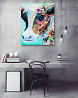 Painted Cows Modern Art Poster Print Home Wall Decor Canvas Painting 16x20""