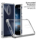 For Nokia 8/7/6/5/2/3/9 Slim Airbag Shockproof Clear Soft Case Rubber Full Cover