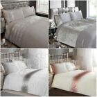 LUXURY EMBELLISHED DUVET COVER SETS DIAMANTE VELVET SHIMMER - DOUBLE & KING SIZE