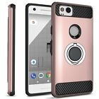 CoverON for Google Pixel 2 Case RingCase Hybrid Hard Shockproof Phone Cover