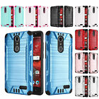 FOR ZTE GRAND X4 Z956 BRUSHED ARMOR CASE HEAVY DUTY COMBAT TPU SKIN COVER+STYLUS