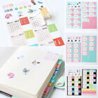 2Pcs 2018 Calendar Divider Tab Sticker Planner Bullet Journal Category Decor DIY