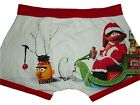 NEW MENS BOYS OFFICIAL BERT & ERNIE CHRISTMAS BOXER SHORTS BOXERS TRUNKS XS-XL