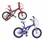"SPIKE 04 FLASH 16"" INCH WHEEL KIDS CHILD CHILDRENS BICYCLE BIKE BLUE RED"
