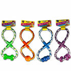"""""""Trev's Toys"""" Figure of 8 Playtime Rope Tugger Toy for Dogs by World of Pets"""