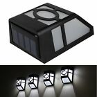 Outdoor Garden Lamp Solar Powered 2 LED Gutter Wall Path Yard Landscape Light SH