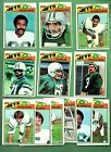 1977 Topps Football NEW YORK JETS Near Team Set Lot