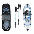 Yukon Charlie's Advanced Women's Fashion Winter Snowshoe Kit with Poles and Bag