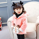 Kids Baby Boys Girl Winter Warm Hooded Coat Thick Jacket Cotton Lined Outwear US